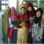 This picture was taken when i became one of the tradisional dancer in the event of a unit activities students at my faculty
